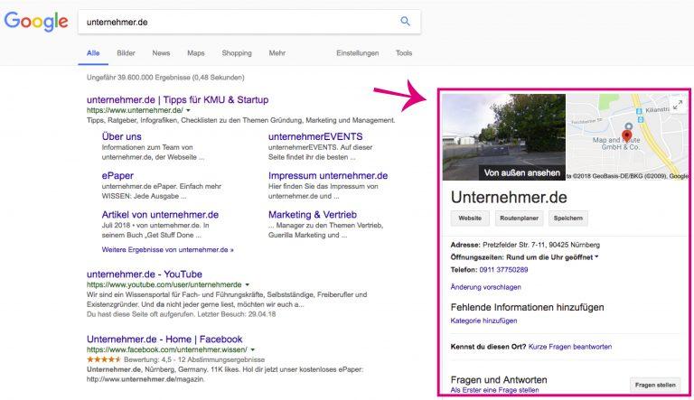 Google My Business: So bringst du dein Unternehmen auf die Pole Position