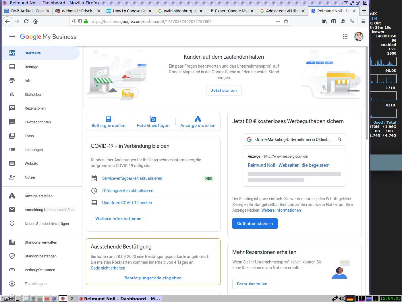 Abbildung 3: Visitenkarte eines Google-My-Business-Eintrags