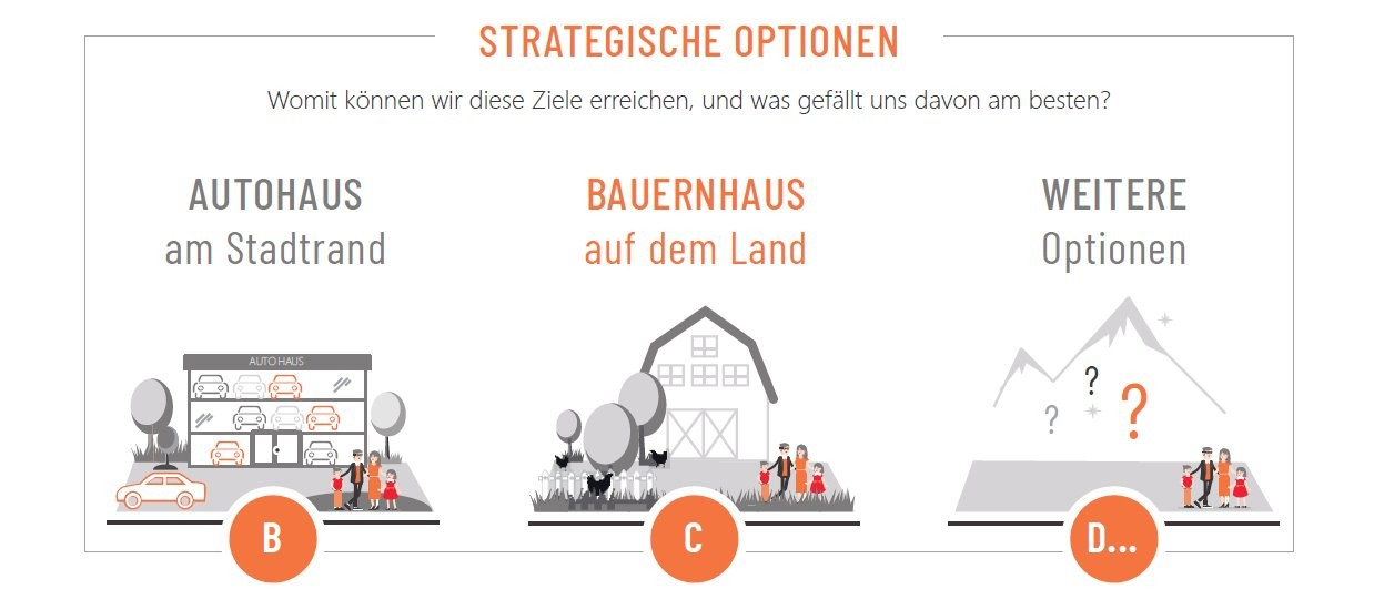 Infografik: Strategische Optionen