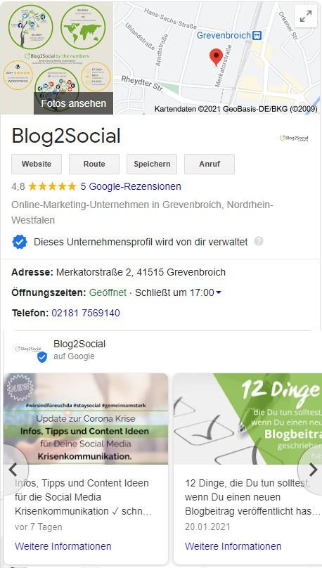 Google My Business Posts
