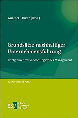 Buchtipp: Grundsätze nachhaltiger Unternehmensführung: Erfolg durch verantwortungsvolles Management