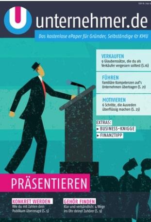 Kostenloses ePaper von unternehmer.de: Präsentieren